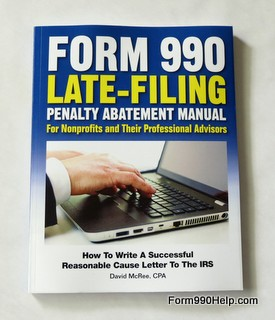 How to remove form 990 late filing penalties book cover